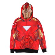 Iron Man - Classic Mask All Over Costume Zip Hoodie - 2X-Large