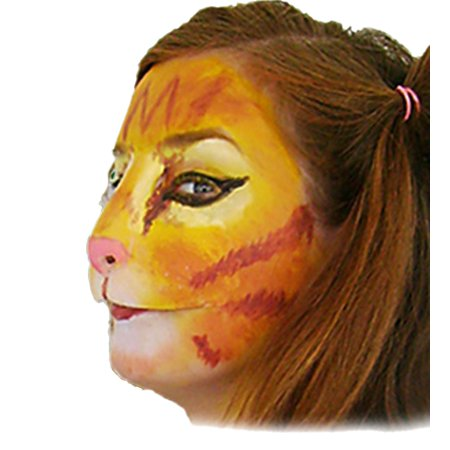 CAT FACE latex kitty nose lion mask prosthetic halloween costume mens womens - Halloween Cat Face Paint Tutorial
