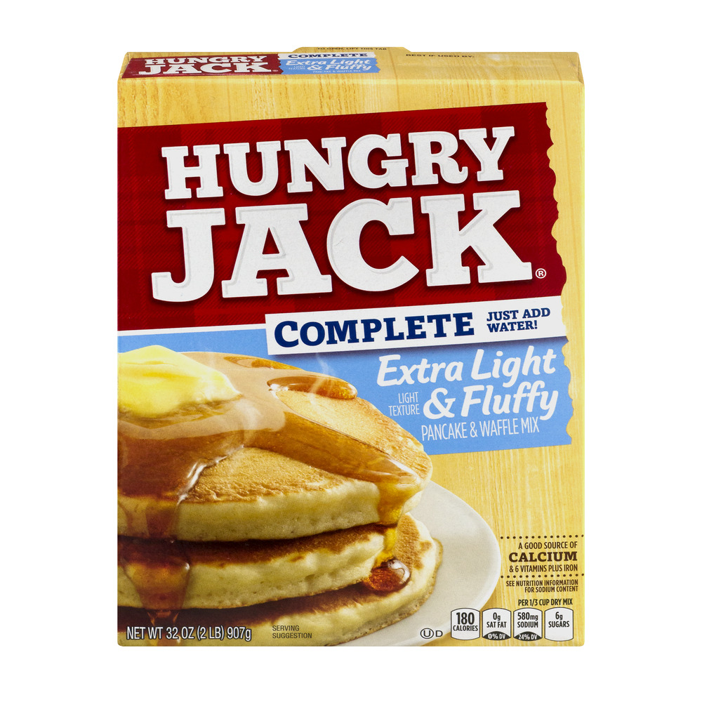 Hungry Jack Complete Extra Light & Fluffy Pancake & Waffle Mix, 32.0 OZ