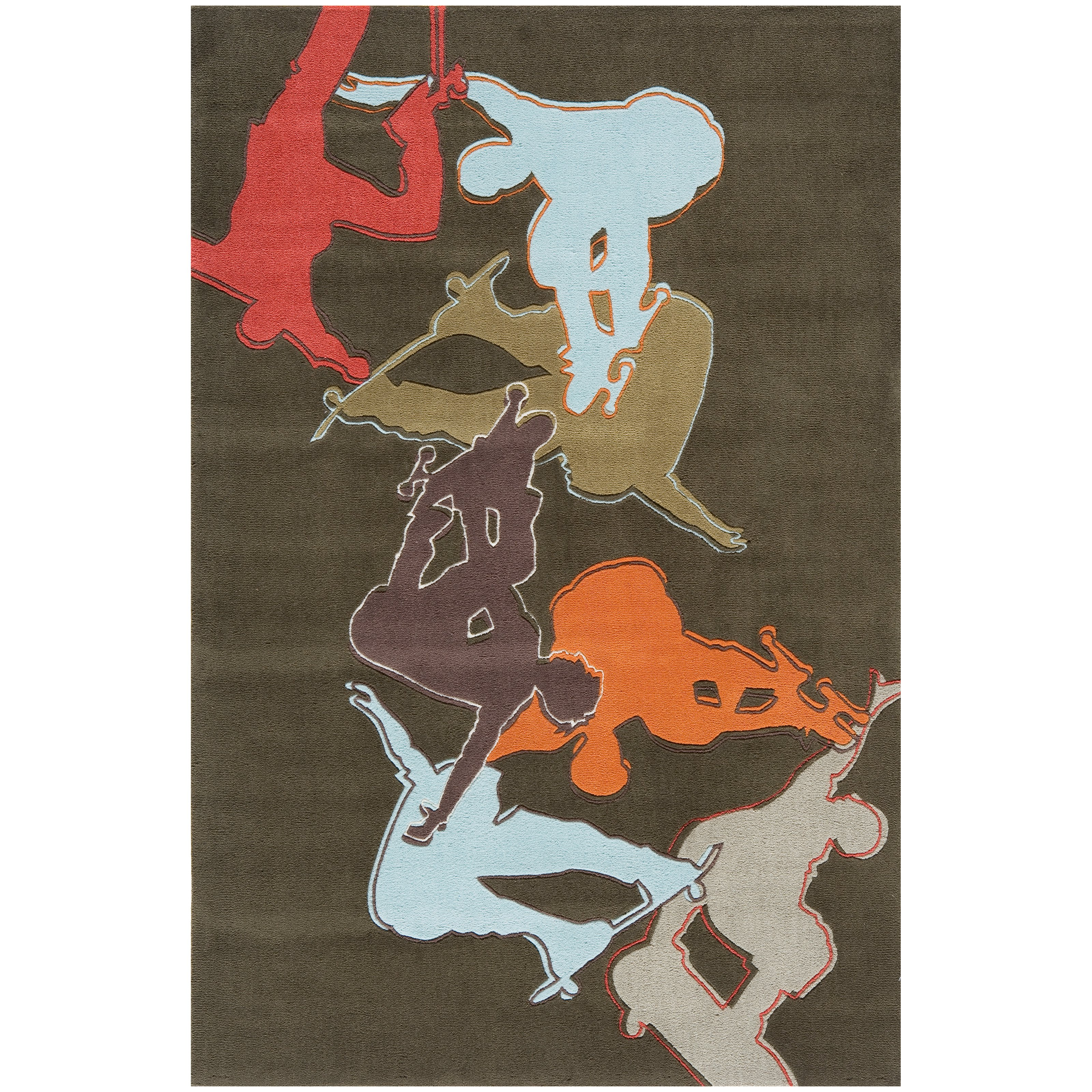 Lil' Momeni Hipster Skate Collection Kids Area Rug