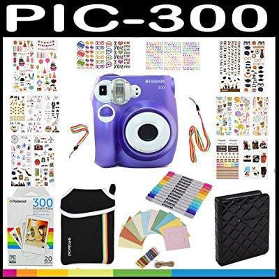 Polaroid pic300 instant camera gift bundle, pif paper, 9 ...