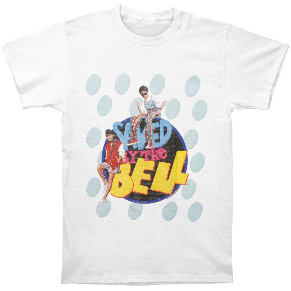 Saved By The Bell Men's  Chillin T-shirt White