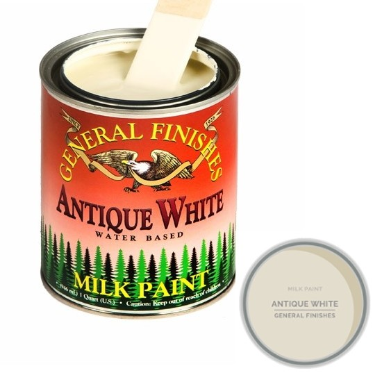 General Finishes, MILK PAINTS, ANTIQUE WHITE, Gallon