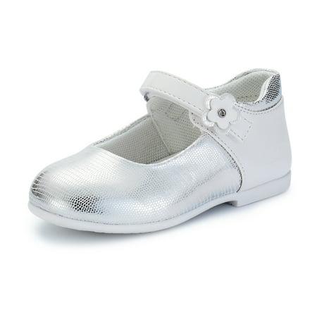 0b151c265b1 Weestep Toddler Little Kid Girl Ballet Flat Mary Jane Dress Shoes