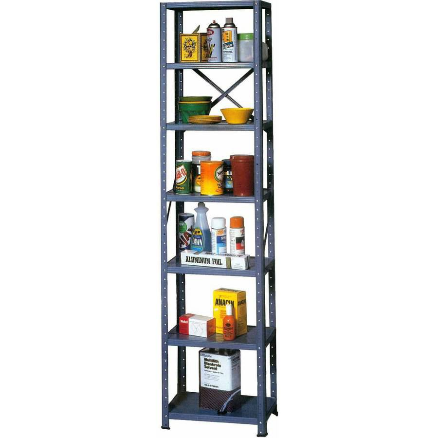 "Muscle Rack 12""W x 18""D x 72""H 7-Shelf Steel Shelving, Grey"