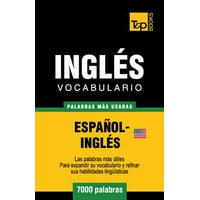 Vocabulario Espanol-Ingles Americano - 7000 Palabras Mas Usadas