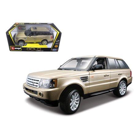 Range Rover Sport Gold 1/18 Diecast Model Car by Bburago (Model Range Rover)