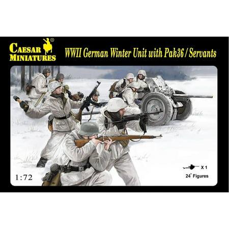 Wwii Uniform Set - Caesar Miniatures H97 WWII German PaK 36 & Crew Winter Uniforms 1/72 Scale