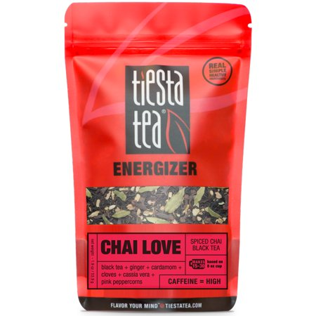 Tiesta Tea Energizer, Chai Love, Loose Leaf Black Tea Blend, High Caffeine, 1.9 Ounce Pouch