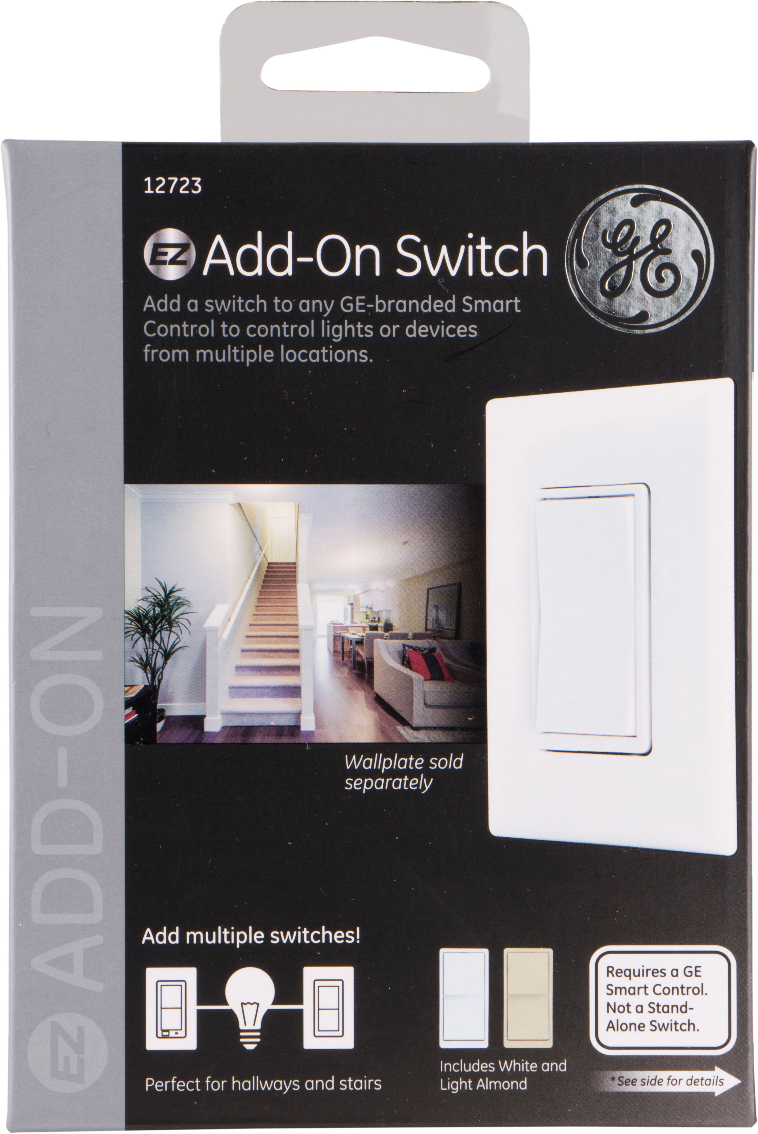 GE Z-Wave In-Wall Smart Add-On Switch, Hub Required - Walmart.com