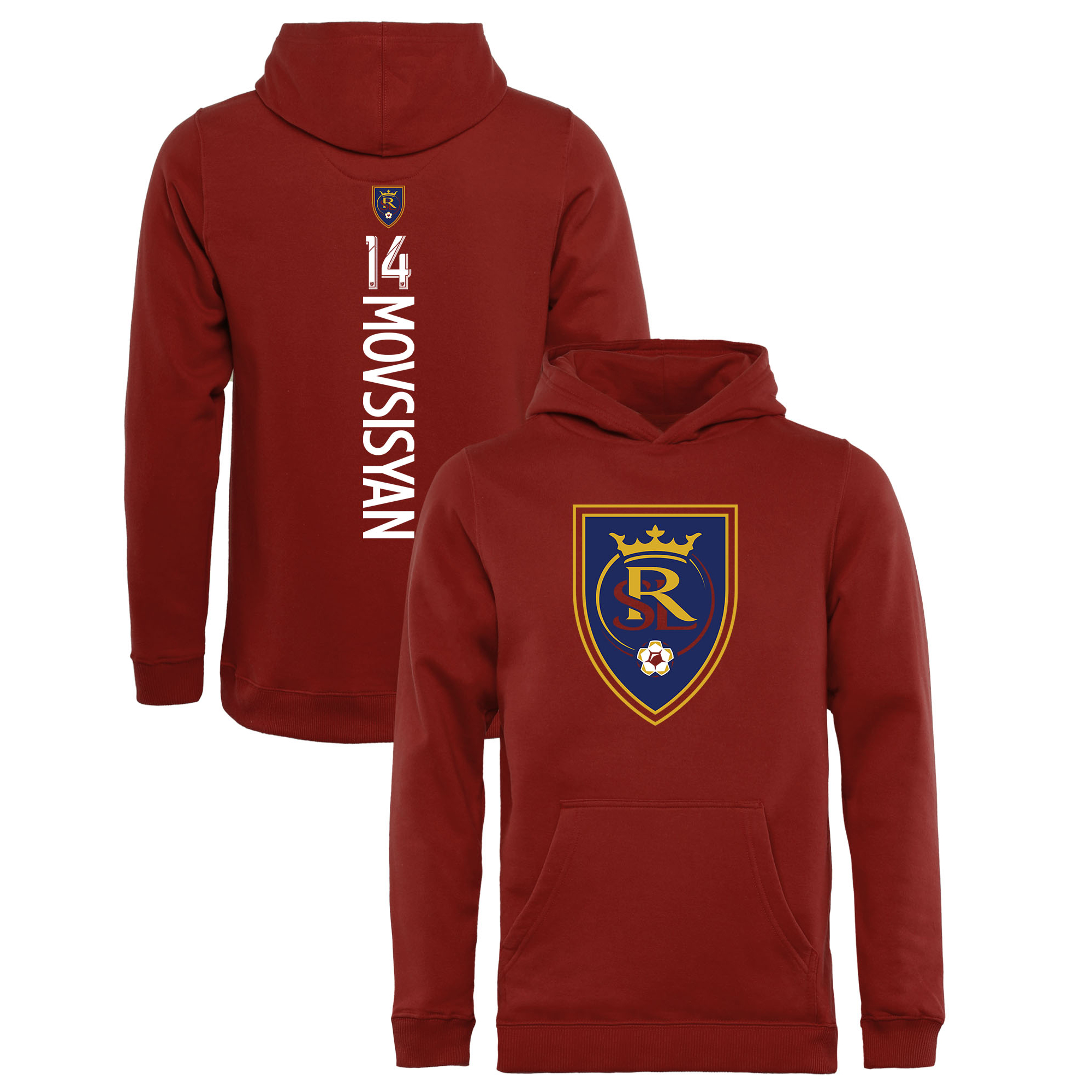 Yura Movsisyan Real Salt Lake Fanatics Branded Youth Backer Name & Number Pullover Hoodie - Red