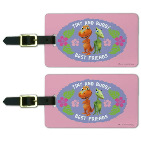 Tiny Buddy Best Friends BFF Dinosaur Train Luggage ID Tags Suitcase Carry-On Cards - Set of