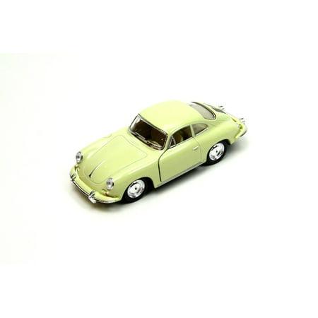 "5"" Kinsmart Porsche 356 B Carrera 2 Diecast Model Toy Car 1:32 Cream"