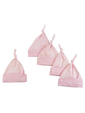 Knotted Baby Cap, Pink - Pack of 5