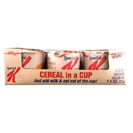 Product Of Kelloggs, Cereal In Cup Special K, Count 6 (1.25 oz) - Cereals / Grab Varieties & Flavors