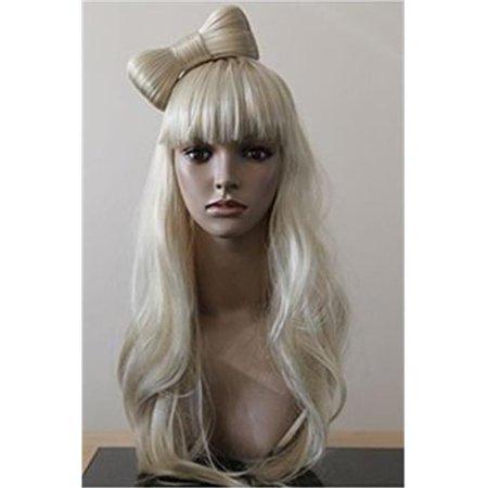 Morris Costumes LW224PBL Gaga Bow Platinum Blonde Wig Costume](Gaga Costume)