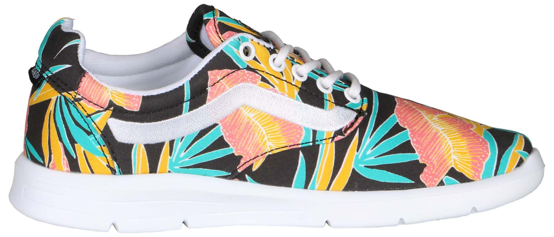 Vans Iso 1.5 Tropical Leaves True White / Ankle-High Canvas Skateboarding Shoe - 9.5M 8M