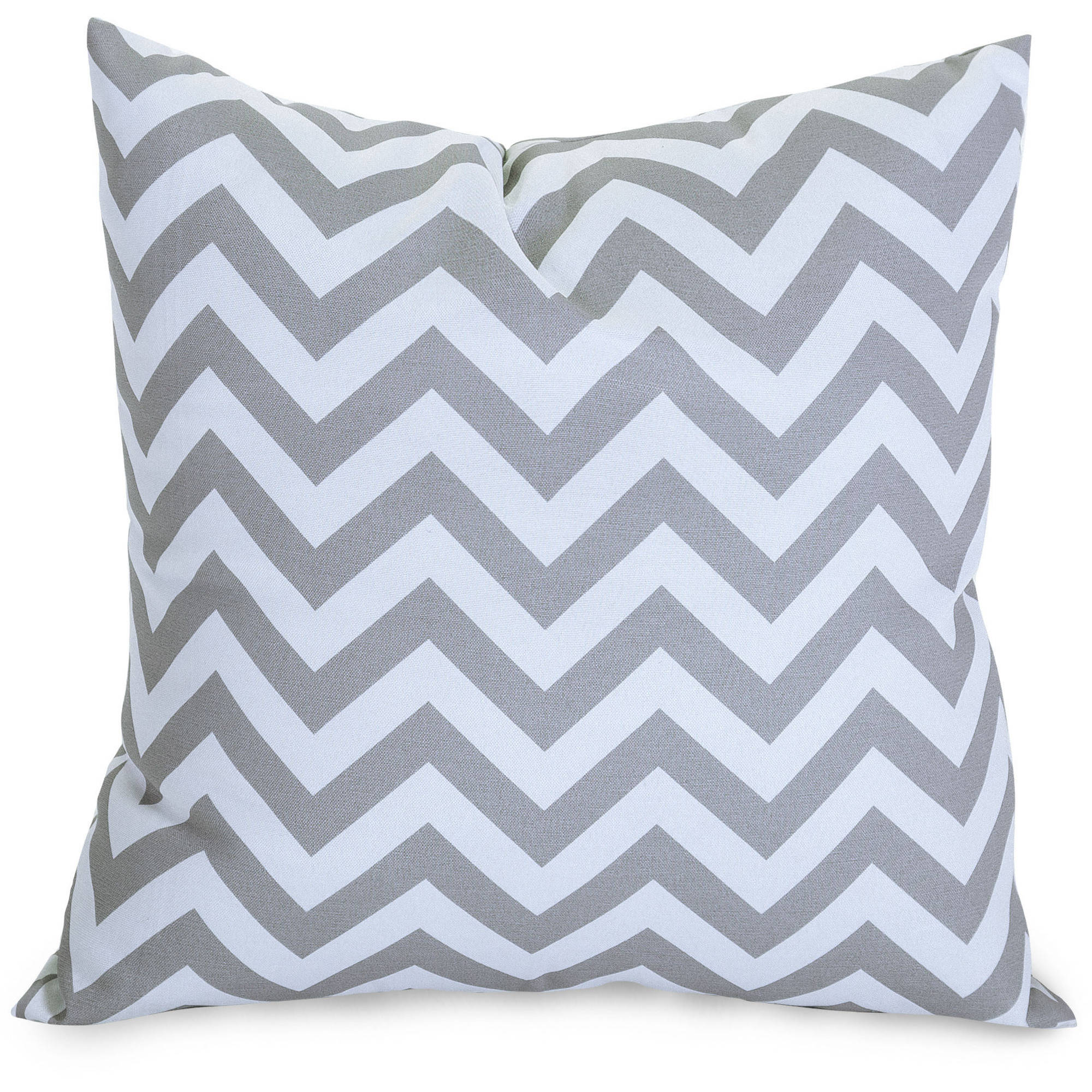 "Majestic Home Goods Chevron Large Decorative Pillow, 20"" x 20"", Indoor/Outdoor"