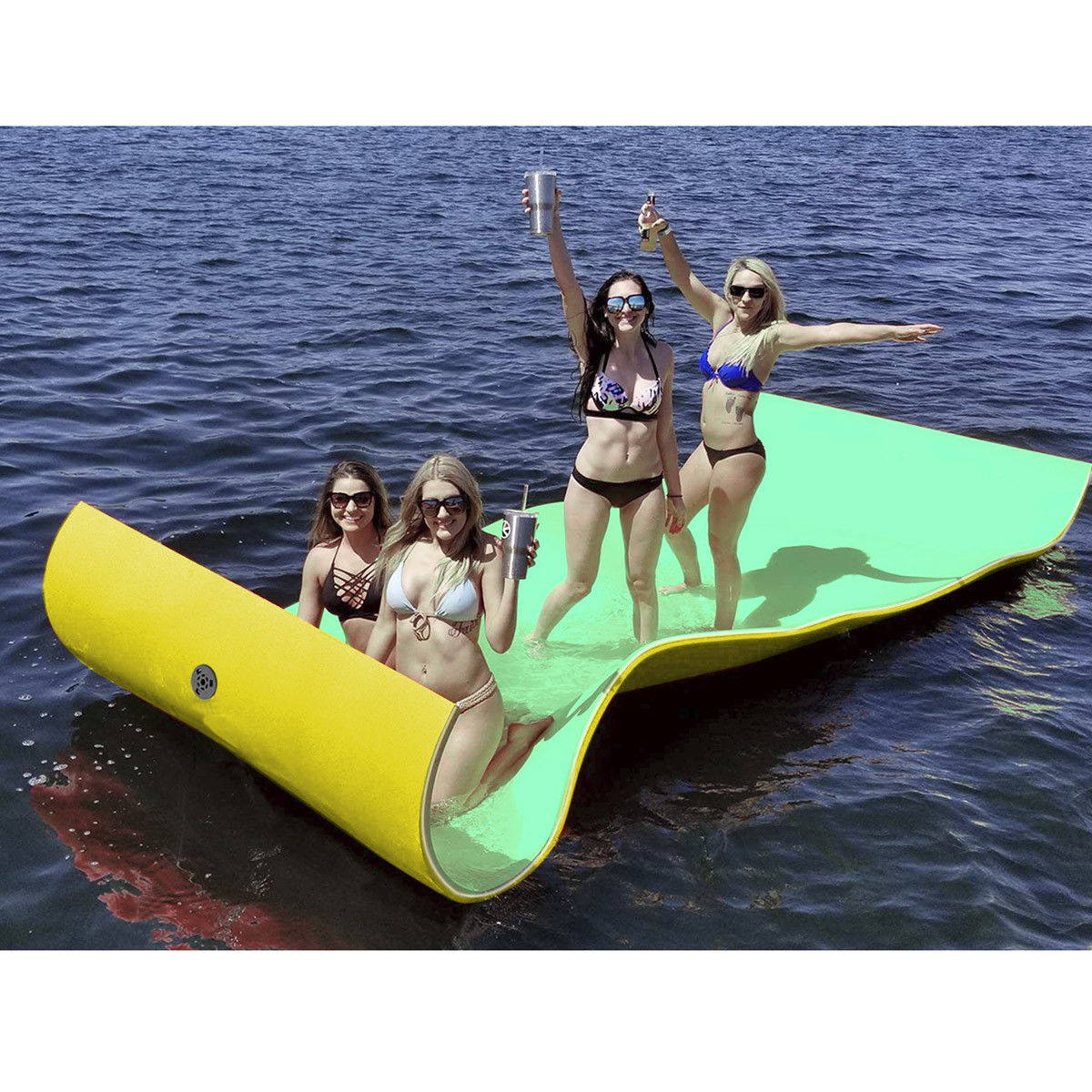 Gymax 3-layer Water Mat Floating Pad Island Water Sports Recreation Relaxing 11.5FT