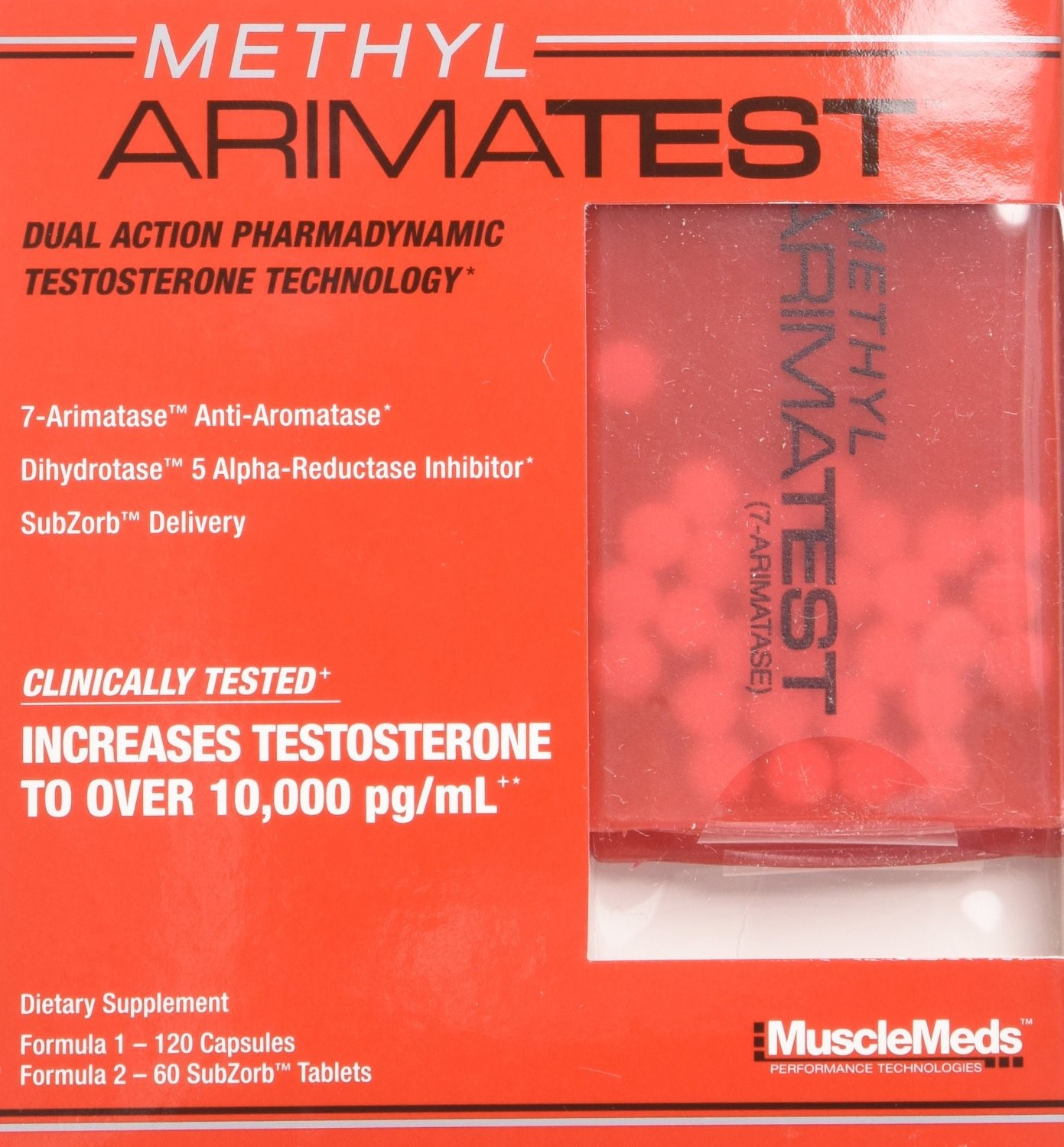 MuscleMeds METHYL ARIMATEST -- 120 Capsules/60 SubZorb Tablets