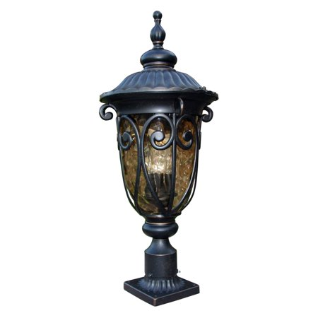 Y Decor EL519LPIORB Modern Transitional Traditional Hailee Outdoor Exterior Oil Rubbed Bronze Finished Outdoor Post Lamp with Go