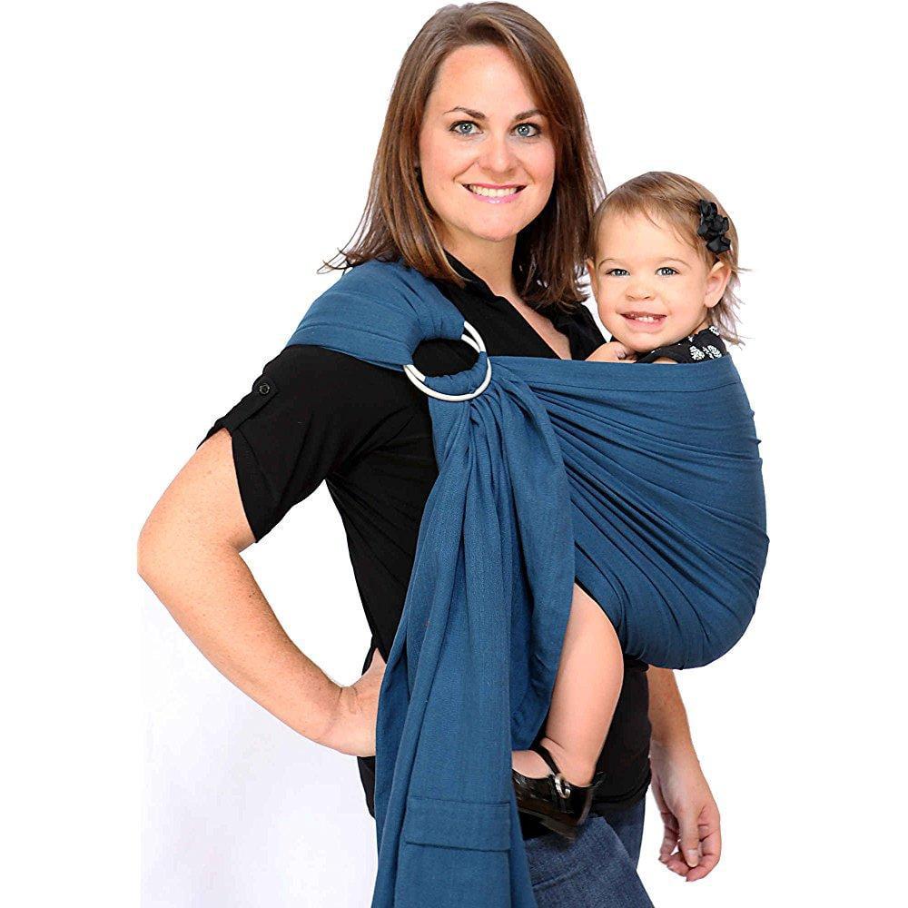 Maya Wrap ring sling - twilight blue - medium