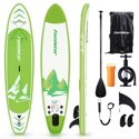 Famistar 12' Inflatable Stand Up Paddle Board SUP w/ Fins, Pump & Backpack