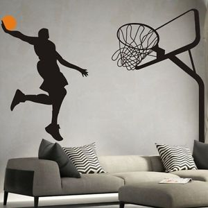 ZAJING 17.7''x28.3''  Removable Basketball Dunk Sport DIY Wall Stickers Kids Room Art Decor Decals - image 4 de 5
