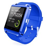 Amazingforless (S47) Premium Blue Bluetooth Smart Wrist Watch Phone mate for Android Samsung HTC LG Touch Screen with Camera