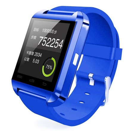 Amazingforless (S47) Premium Blue Bluetooth Smart Wrist Watch Phone mate for Android Samsung HTC LG Touch Screen with