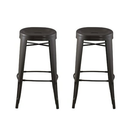 Round Backless Barstool with Contoured Seat 29