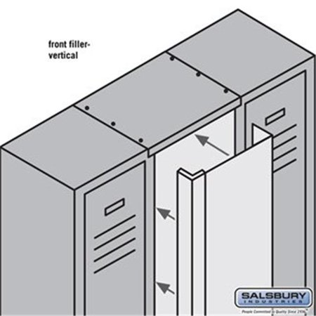 Salsbury 77859GY 9 in. x 5 ft. Front Filler Vertical for Metal Locker, Gray - image 1 of 1