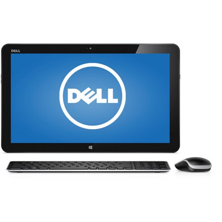 Dell Black XPS 18 All-in-One Desktop PC with Intel Core i5-4210U processor, 8GB Memory, 18.4  Touchscreen, 1TB Hard Drive and Windows 8.1 This device is eligible for a FREE upgrade to Windows 10Dell XPS 18 All-in-One Desktop PC: Key Features and Benefits: Intel Core i5-4210U processor2.70GHz, 3MB Cache8GB DDR3 SDRAM system memory (expandable to 12GB)Gives you the power to handle most power-hungry applications and tons of multimedia work1TB SATA hard driveStore 666,000 photos, 285,000 songs or 526 hours of HD video and more802.11ac Wireless LANWirelessly connect to a WiFi signal or hotspot with the 802.11ac connection built into your PC18.4  Full HD LED-backlit touchscreen displayIntel HD GraphicsAdditional Features: Built-in HD webcamSD memory card reader2 x USB 3.0 ports, 1 x USB 2.0 port, 1 x 3.5mm audio jack5.31 lbs, 18.25  x 11.17  x 0.7 Software: Genuine Microsoft Windows 8.1 64-bit EditionMicrosoft Office TrialBackup and Restore options built into Windows allow you to create safety copies of your most important personal files, so you're always prepared for the worstSupport and Warranty:1-year in-home warrantyWhat's In The Box: Power cordDell wireless keyboardDell wireless mouseQuick Start GuideTo see the manufacturer's specifications for this product, click here. To see a list of our PC Accessories, click here. Trade in your used computer and electronics for more cash to spend at Walmart. Good for your wallet and the environment - click here. ENERGY STAR ®Products that are ENERGY STAR-qualified prevent greenhouse gas emissions by meeting strict energy efficiency guidelines set by the U.S. Environmental Protection Agency and the U.S. Department of Energy. The ENERGY STAR name and marks are registered marks owned by the U.S. government, as part of their energy efficiency and environmental activities.