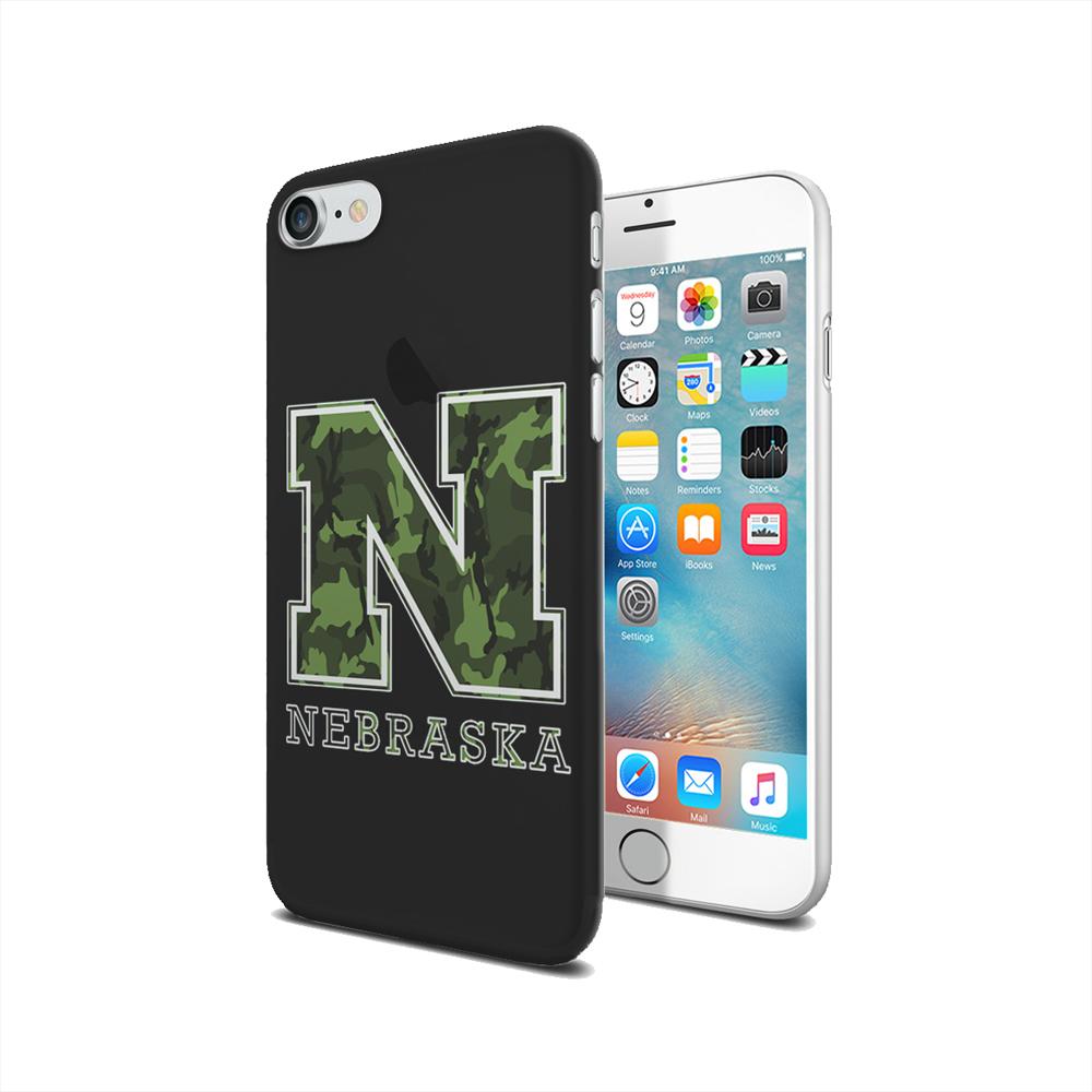 KuzmarK iPhone 7 Clear Cover Case - Nebraska Camouflage