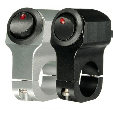 "Motorcycle Handlebar Light Switch Headlight Fog Spot Light On Off Switch Handlebar Light Controller 12V 10A Waterproof CNC Aluminum 7/8"" inch 22mm Motorbike Dirt Bike ATV  MATCC"