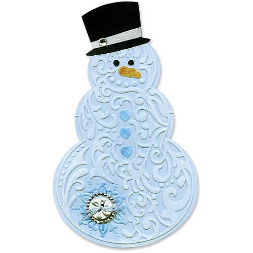 Sizzix Bigz Die and Bonus Embossing Folder, Snowman & Hat