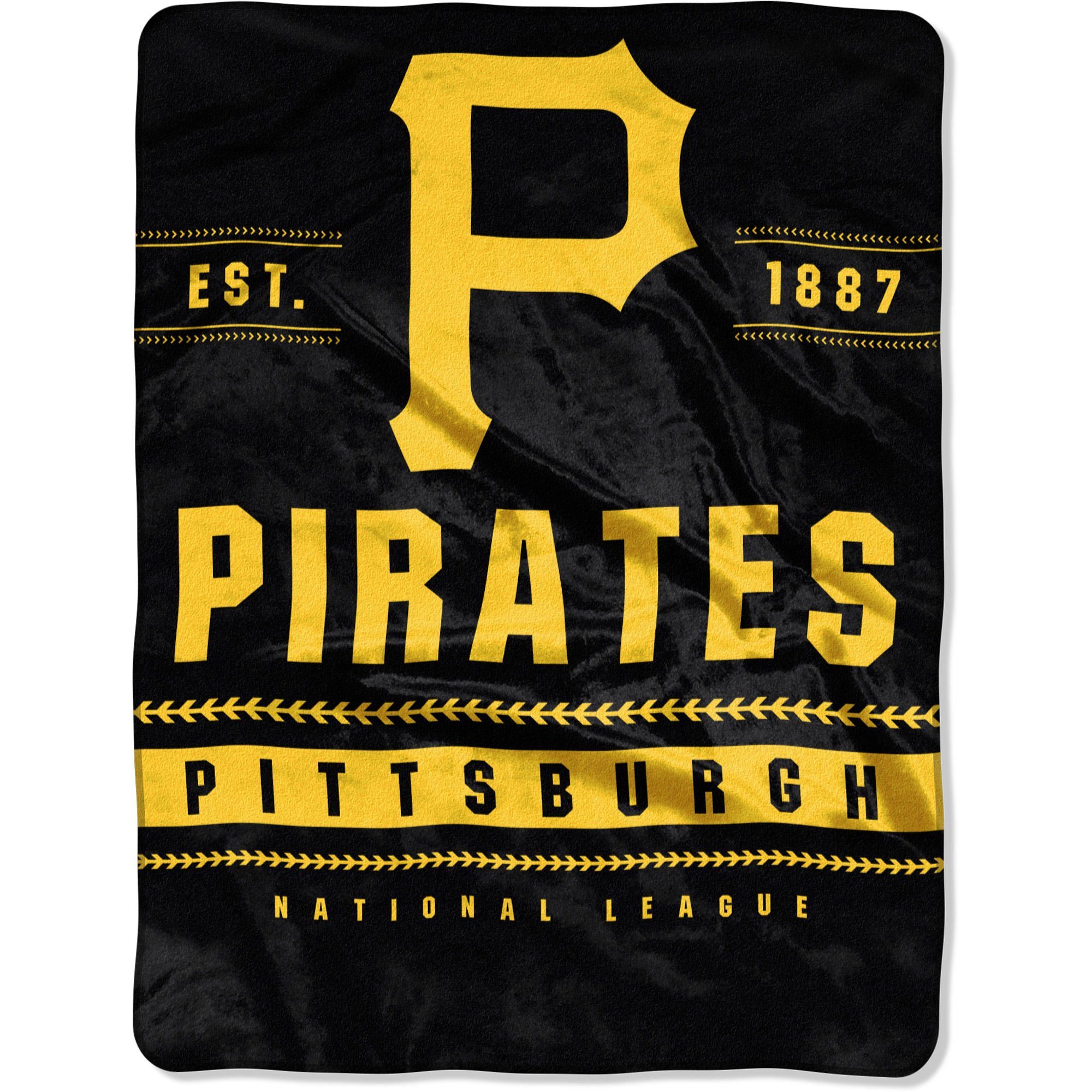 """Pittsburgh Pirates The Northwest Company 60"""" x 80"""" Backstop Silk Touch Throw Blanket - No Size"""
