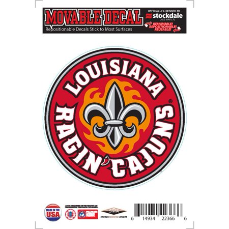 Louisiana Lafayette Ragin Cajuns Repositionable Vinyl Decal (Party City Lafayette Louisiana)