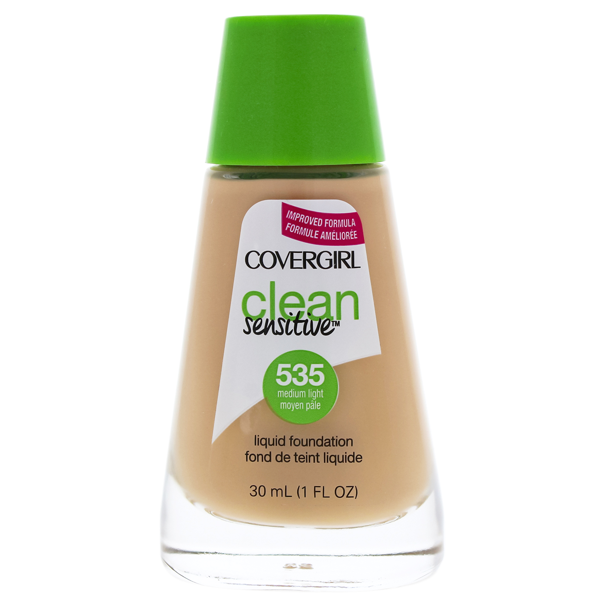 Clean Sensitive Liquid Foundation - # 535 Medium Light by CoverGirl for Women - 1 oz Foundation