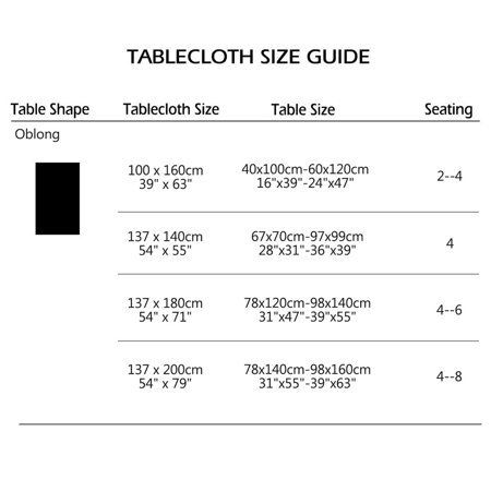"Tablecloth PVC Rectangle Table Cover Oil Resistant Table Cloth 54"" x 71"", #4 - image 6 de 7"