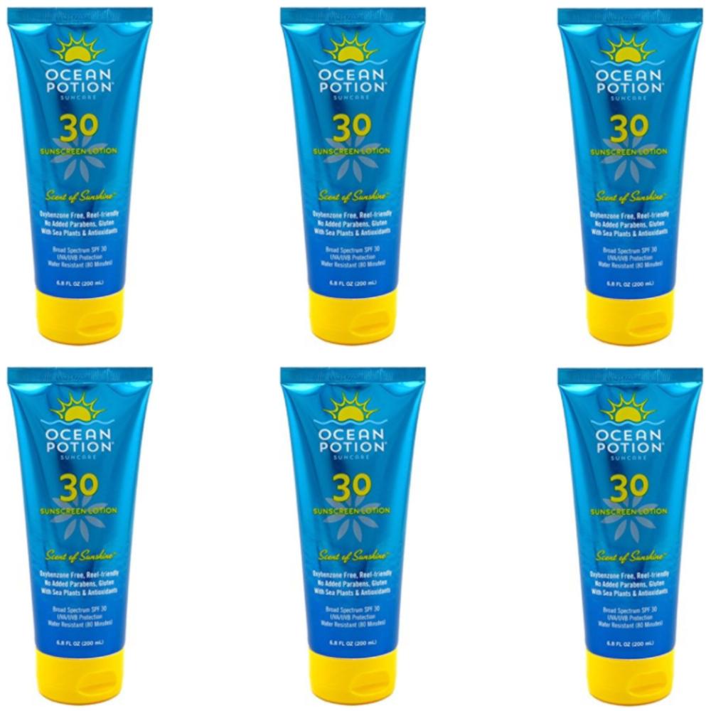 6 Pack - Ocean Potion Scent Of Sunshine Lotion SPF 30 6/8 fl oz Each