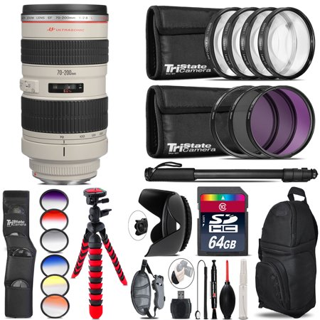 Canon EF 70-200mm 2.8L USM Lens + Graduated Color Filter - 64GB Accessory (Canon 70 200 F2 8 Price In India)