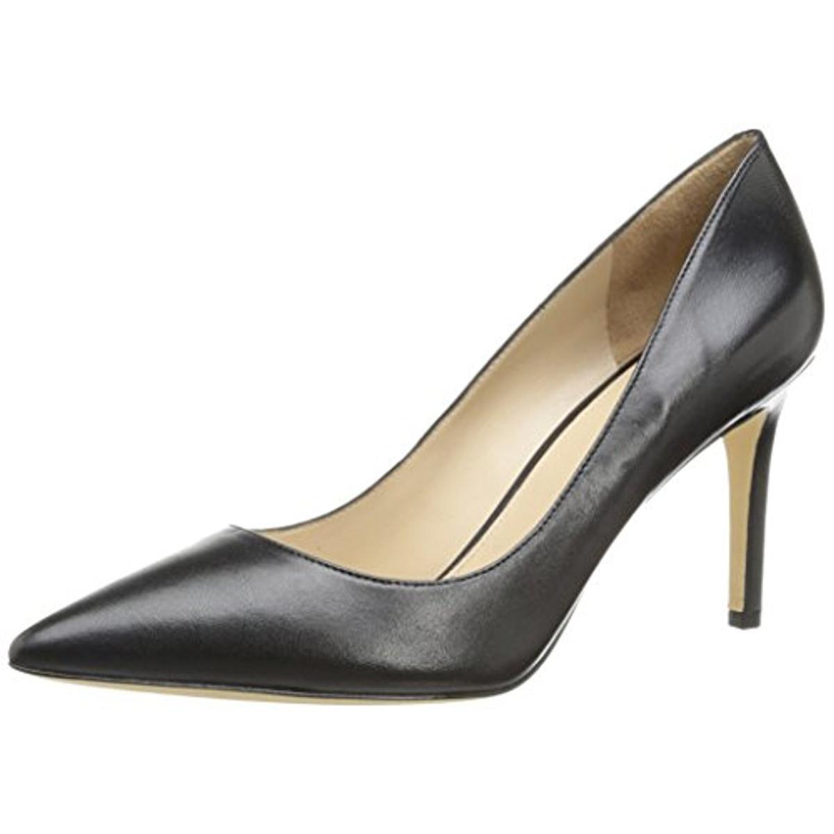 Via Spiga Womens Almond Carola Leather Almond Womens Toe Stilettos 0fe4d3