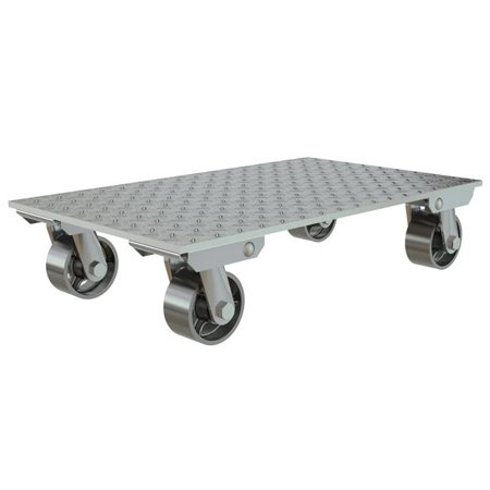 VESTIL PDA-1627-C-S Aluminum Plate Dolly With Steel Wheels