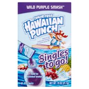 Hawaiian Punch Sugar-Free Wild Purple Smash Drink Mix, 0.75 Oz., 8 Count