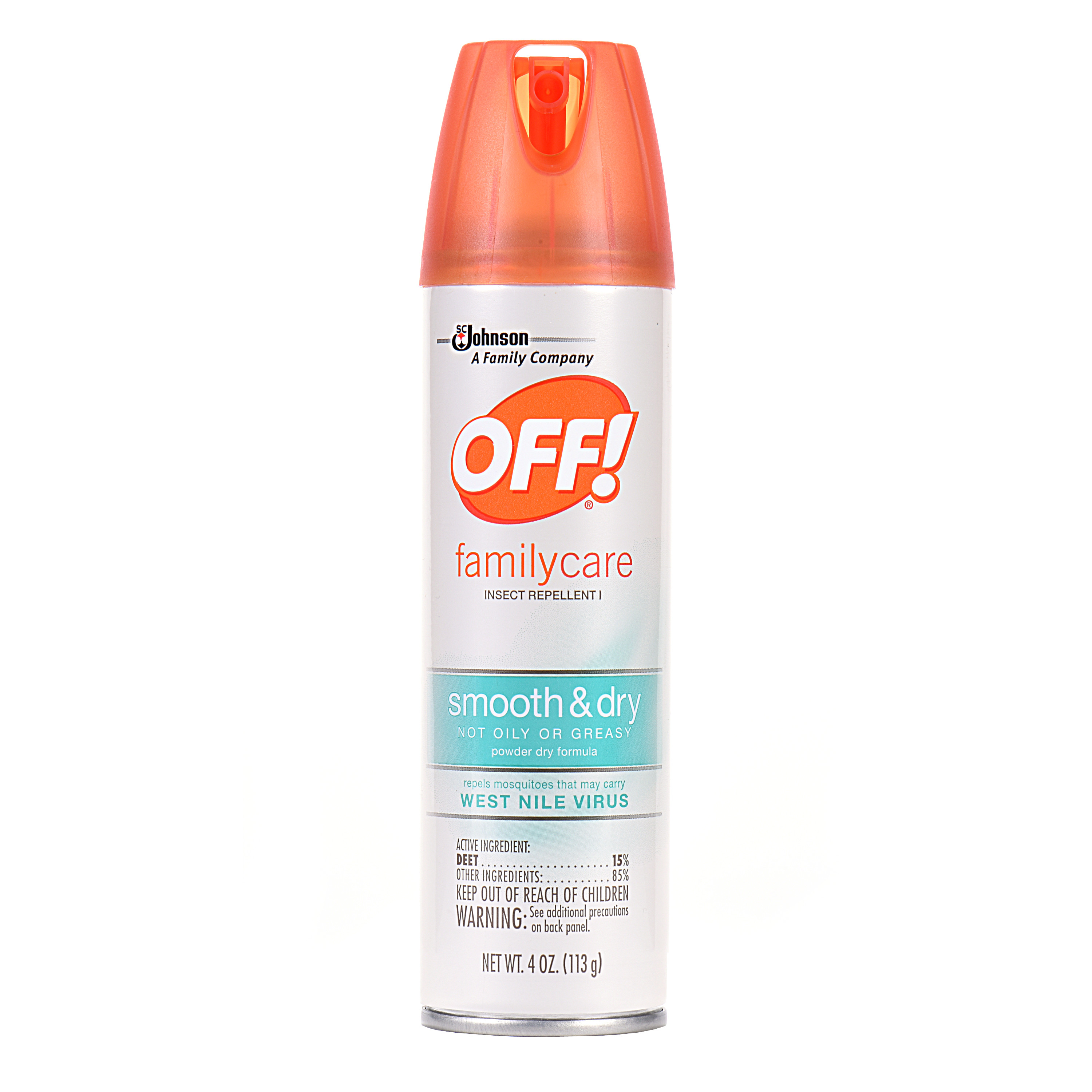 OFF! FamilyCare Insect Repellent I Smooth & Dry 4 Ounces