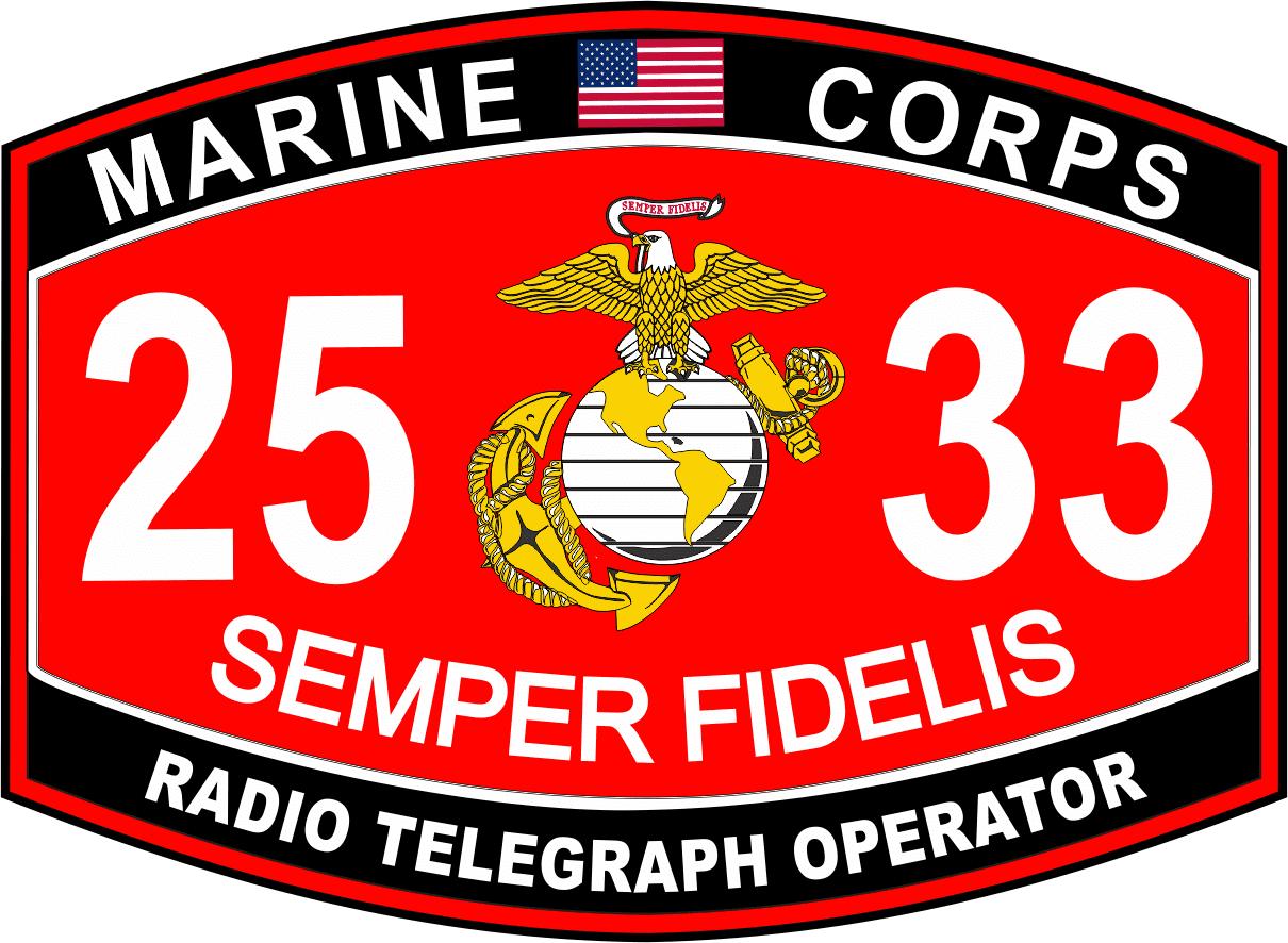3.8 Inch Radio Telegraph Operator Marine Corps MOS 2533 USMC Military Decal  - Walmart.com