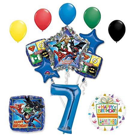 The Ultimate Justice League Superhero 7th Birthday Party Supplies - Justice League Birthday Party