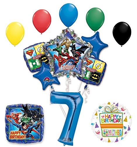 The Ultimate Justice League Superhero 7th Birthday Party Supplies