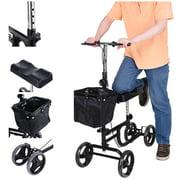 Steerable Medical Knee Walker Scooter w/ Basket Weight Capacity 300 lbs